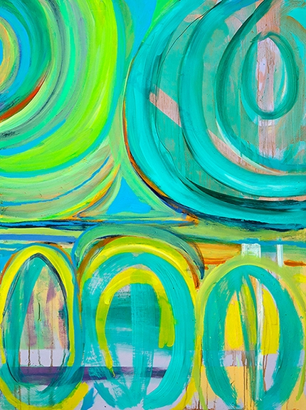 Oil on wood painting titled Sugar High, by Tina Cantelmi
